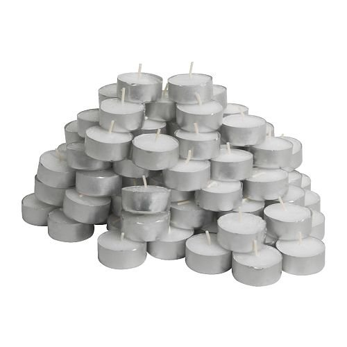 IKEA Glimma Candles/Tealights, Pack of 100, White, 100-Piece