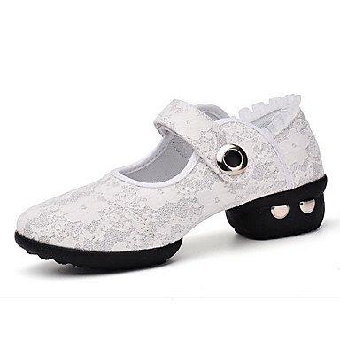 Scarpe da ballo-Non personalizzabile-Da donna-Balli latino-americani Jazz Sneakers da danza moderna Danza moderna Scarpe da swing Red