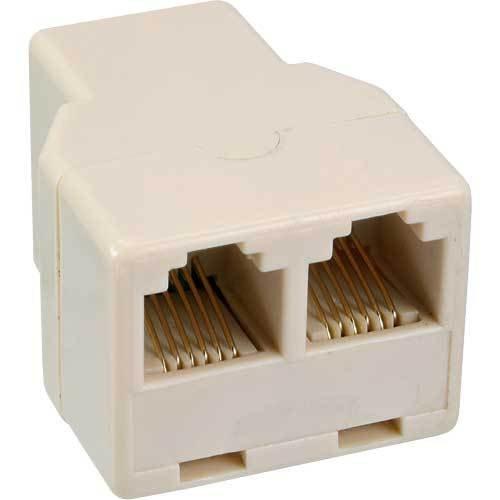 Unbekannt InLine® Modular Verteiler, 1x RJ12 Buchse auf 2x RJ12 Buchse - Rj12-buchse