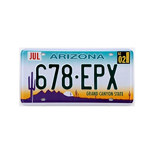 Plaque américaine USA licence plate ARIZONA Grand Canyon State