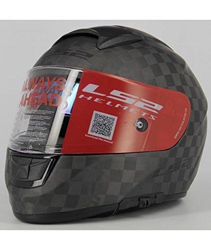 LS2 Casco Moto Ff397 Vector Ct2 Carbon, Matt Carbon, M