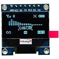 "hiletgo 0.96""SSD1306I2C IIC SPI Serial 12864LCD OLED Display para Arduino Adafruit beaglebones Raspberry Pi 3.3–5V 4pin/7pin fuente de tres color opcional blanco/azul/amarillo blule"