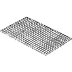 Fenau | Caillebotis/Grille conforme aux normes de l'industrie du bâtiment, Dimensions : 490 x 790 x 20 mm, Dimensions du maillage: 30/30 mm, galvanisée, cadre: 500 x 800 x 23 mm)