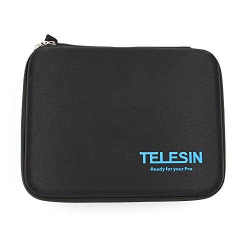 Preisvergleich Produktbild TELESIN stoßfest stoßfest schützende Travel Bag Transporttasche für Gopro Hd Hero 3 Hd3 + 2 1 Kamera & Gopro Zubehör (Medium, schwarz)