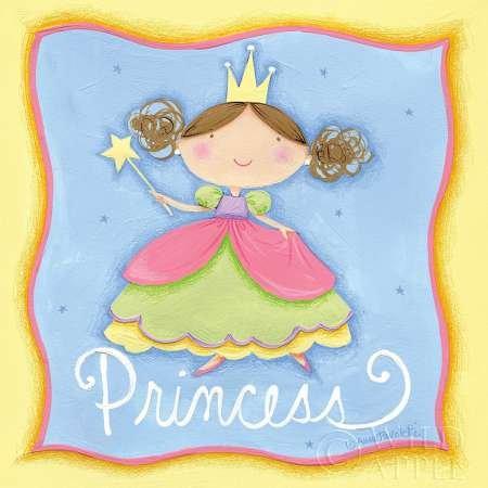 Princesse par Anne Tavoletti,–Fine Art Print Disponible sur papier et toile, Toile, SMALL (12 x 12 Inches )