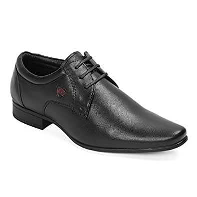 Red Chief Men's Black Leather Formal Shoes-10 UK/India (44 EU) (RC3537 001)