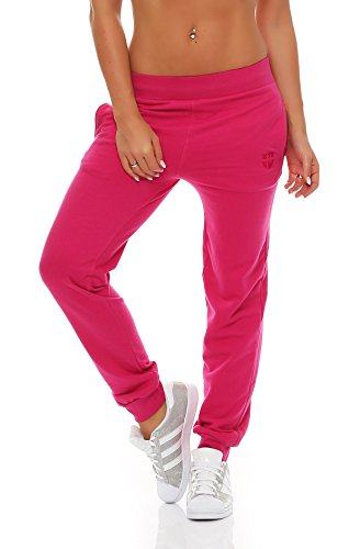 Gennadi Hoppe Jogginghose Damen Trainingshose (4XL, Pink)
