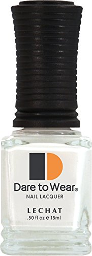 LECHAT Dare to Wear Nail Polish, Flawless White, 0.500 Ounce by LECHAT
