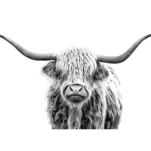 n für Erwachsene Junior Kinder, ABEUTY Grau Kuh 40x50cm Weihnachten Valentinstag Geschenk ()