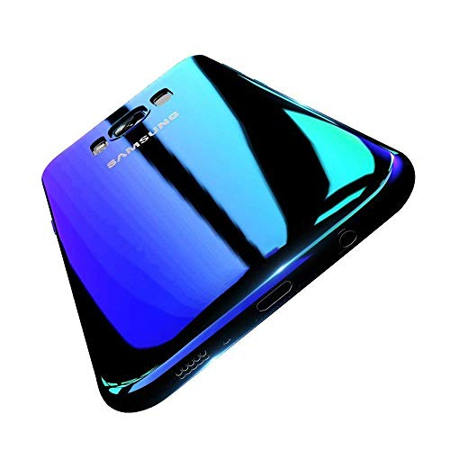 Samsung Galaxy S6 Edge Plus Hülle, Gradient Transparent Farbe Ultradünnen Schutzhülle PC Handytasche für Samsung S6/S6 Edge Cover (Samsung Galaxy S6 Edge, Blau) -