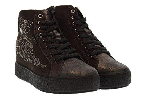 Chaussures Femme Enval Soft Haute Sneakers 89961/00 Gris Foncé