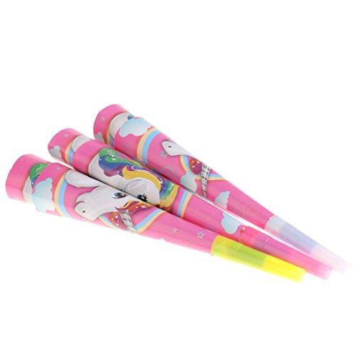 MagiDeal 6 / Set Lustige Einhorn Muster Pfeife aus Papier Spielzeug Kinder Geburtstag