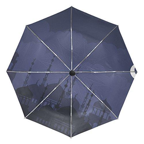 COOSUN Arabische Nacht Automatik 3 Folding Sonnenschirm-Regenschirm Farbe # 002