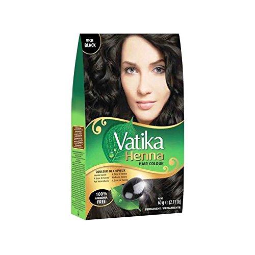 Vatika Henna pelo color negro de gran (6sobres x 10g)