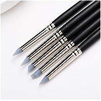 Paquete de 5 Herramientas de Modelado de Arcilla de Caucho de Silicona Flexible Puntas Blandas Moldeadoras Nail Art Pen Pinceles de Pintura Cerámica Escultura Sellador