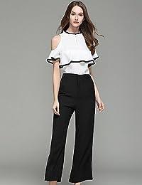 Jolie PU PU T-Shirt Pantalone Completi Abbigliamento da Donna Casual  Semplice Estate ef7b913cf67