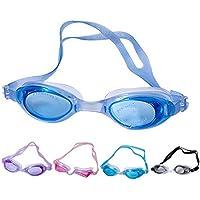 FanLe Gafas de natación de 5 Piezas con Gafas de natación de triatlón sin Fugas, Gafas de natación de Silicona Ajustables para Hombres Adultos, Mujeres, jóvenes, niños