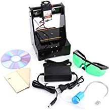 2000MW Grabadora de Láser 7 × 7cm Mini DIY USB Máquina de Grabado CNC con Gafas de Protección 100-240V para win7, win8, win10, XP