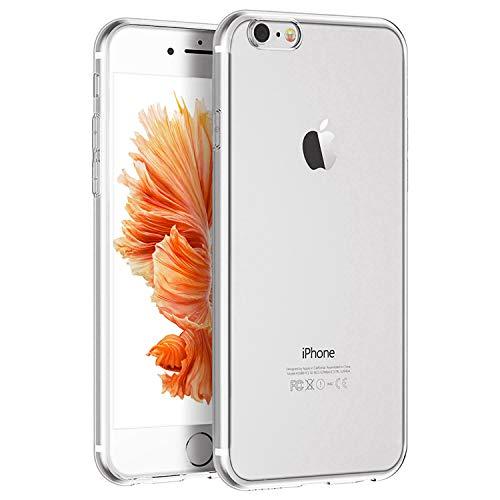 Whew Handyhülle Kompatibel iPhone 7, Schutzhülle Kompatibel iPhone 8, Ultra Dünn Transparent Weiche Silikon TPU Hülle, Stoßdämpfend, Staubschutz, Anti-Kratz Handyschutzhülle, Clear Case Cover - 5 Rückseite Iphone Gehäuse