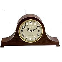 Barrister En Bois Horloge De Cheminee Avec Carillon Westminster Et