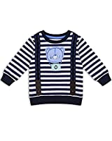 The Essential One - Boys Kids Sweatshirt - Bailey Bear - 4-5 Yrs - Navy Blue/White - EOT181