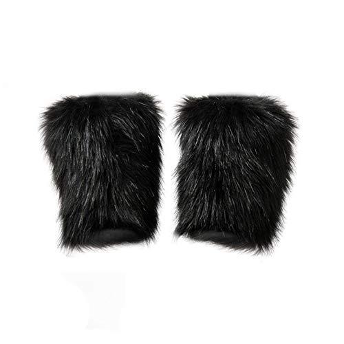 lz-Winter-Wärmer Schuh Leg Fur Boot-Sleeve für Frauen - Schwarz ()