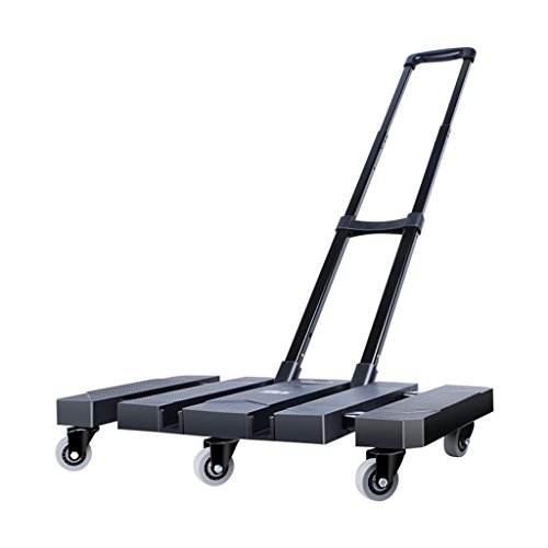 566a29f20179 Caster Little Pull El coche plegable portátil Tire del camión Carga King  Luggage Cart El hogar Handling Trolleys Hand Truck (Color : NEGRO)