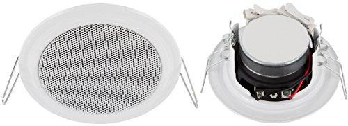 Einbaulautsprecher - Vollmetall - 11W RMS - 45W Musikleistung - Ø 106mm - Einbau Ø 89mm - Klemm Montage