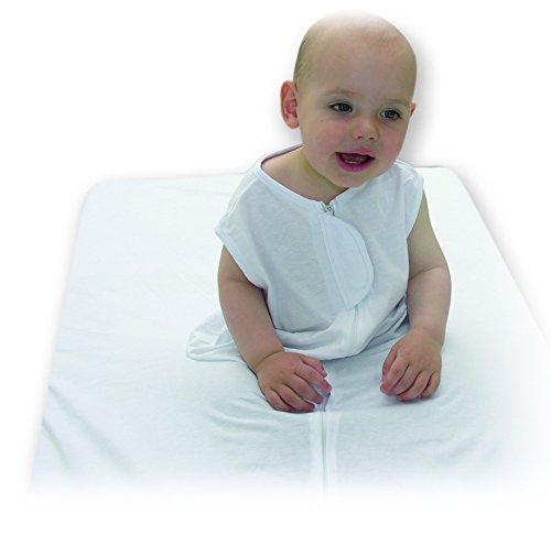 Sábana de seguridad para bebés 90x190 cm, blanca