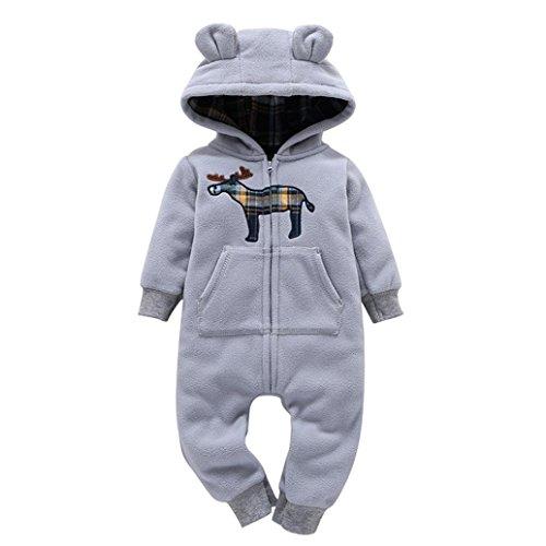 Babykleidung SUCES Jungen Mädchen Dickere Drucken Overall Jumpsuit Mode Mit Kapuze Strampler Warm Reißverschluss Outfit Kleider Mantel (18M, (Cloud Kostüm Ideen)