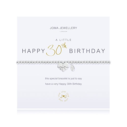 Joma Jewellery a little 30th Birthday bracelet