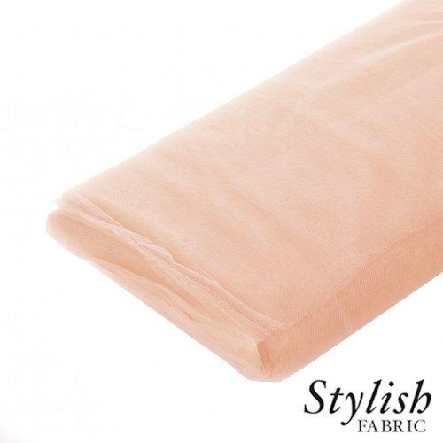 Peach Tulle Fabric - 40 Yards Per Bolt by Stylishfabric - Tessuto Di Tulle Bolt