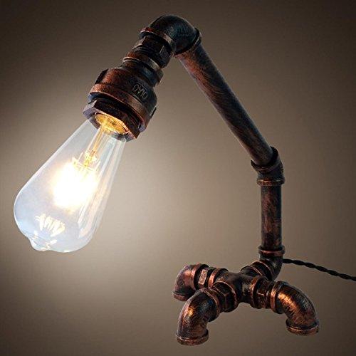 SHDT Loft Retro Creative Industrial Water Pipe Schlafzimmer Nachttisch Lampe Schreibtisch Lampe Home Bar Schlafzimmer Dekor , 2