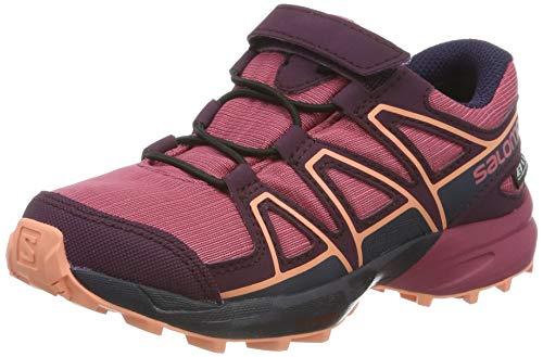 Salomon Kinder Trailrunning-Schuhe, SPEEDCROSS CSWP K, Farbe: Violett (Malaga/Potent Purple/Desert Flower), Größe: 30