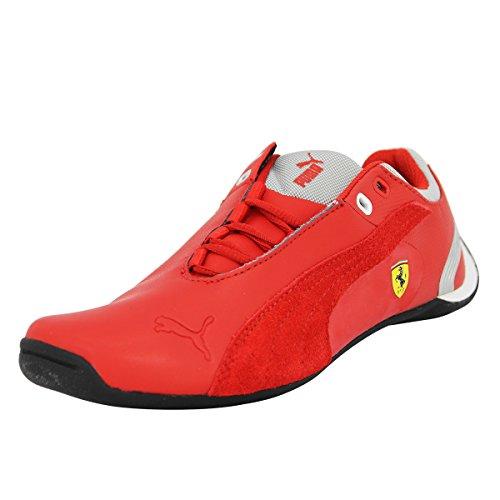 Puma Jr Fut Cat M2SF NM JR, Jungen Sneaker, rot - Rosso (Rouge, argent, blanc, noir et gris) - Größe: 38 EU (Schuhe Für Herren Puma 2014)
