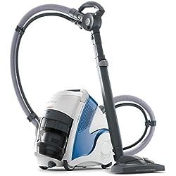 Polti PBEU0100 Unico MCV80 Aspirateur multifonctions 3 en 1 et nettoyeur vapeur, 6 bar, 236 W, 0.8 liters, Bleu/Blanc
