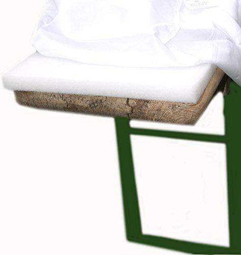 2er Set Schaumstoff Auflage Sitzpolster Bierbankauflage Bierbank 220 cm Bierzeltgarnitur wahlweise mit 2 oder 5 cm (2 cm Polsterung)