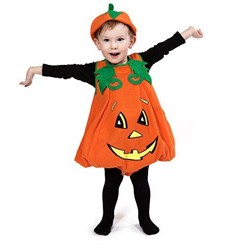 Brauns-heitmann - costume per travestimento da zucca bambino, 92-104 cm, colore: arancione
