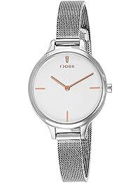 Fjord Analog White Dial Women's Watch - FJ-6027-22