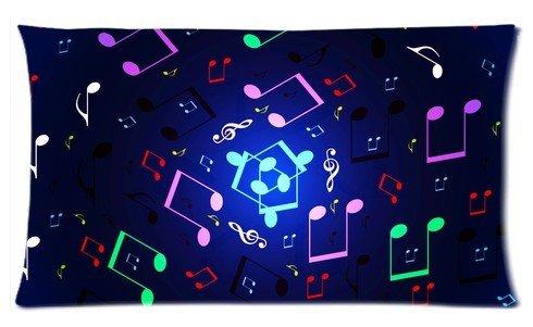 Lemon Q Music Notes Floating Passion (2) Custom Decorative Zippered Pillowcase(Copricuscini e federe)Pillow cases(Copricuscini e federe) 20X30inch (twin sides)