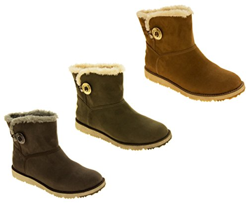 Ladies S.Oliver Fur Chaussons Bottines