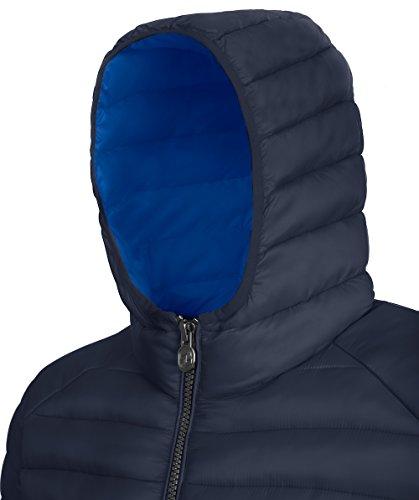 Invicta Herren Jacke Giubbino Uomo ConCappuccio Schwarz Dark blue/\nRoyal blue\n431