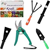 [Sponsored]GATE GARDEN IMPRESSIVE AND ECONOMICAL GARDENING TOOLS KIT (5 IN 1) FOR HOME GARDEN. IN THIS BOX EACH ONE OF PRUNERS SCISSOR, CULTIVATOR, KHURPI FOR SMALL ,TROWEL AND LAST KHURPI FOR LARGE POTS. BY GATE GARDEN