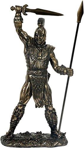 Achillis bronziert! Grieschische Mythologie! Figur! Dekoration!