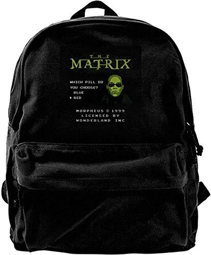 Canvas Backpack Morpheus Arcade The Matrix Rucksack Gym Hiking Laptop Shoulder Bag Daypack for Men Women -