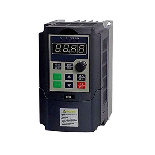 Mini Portable 0.75kw-G 220V Einphasen-Frequenzumrichter 220V 3 Phasen Ausgangsfrequenzumrichter Eingebauter Benutzer-Timer - Schwarz