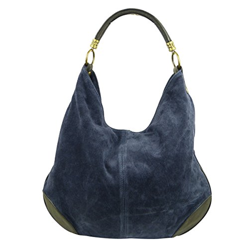 Freyday - Made in Italy, Borsa a spalla donna Blau