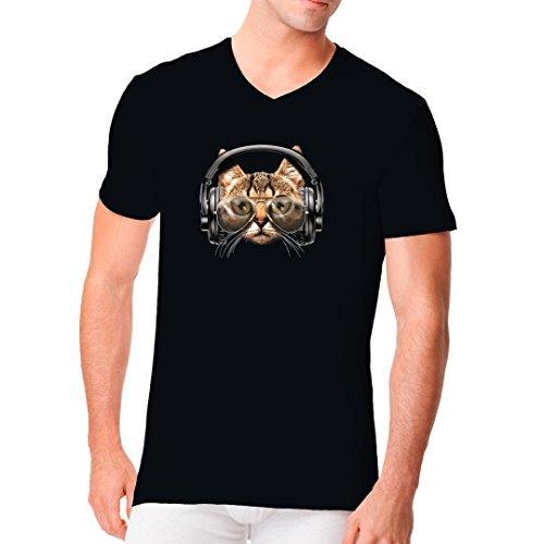 Im-Shirt - Catphones Fun Shirt cooles Fun Men V-Neck - verschiedene Farben Schwarz