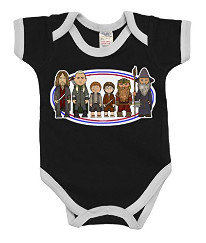 VIPwees Baby Kleidung Babygrow Heroes Of The Fantasy Rings Boys & Girls Baby (Frodo Outfit)