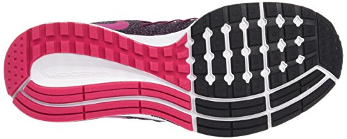 Nike Zoom Pegasus 32 (Gs) Scarpe Sportive, Ragazza Nero / rosa / bianco (nero / Vivid rosa-bianco)